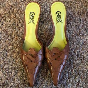 Carlos Santana Brown Leather Heels